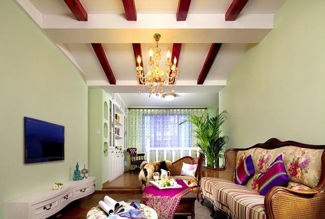 地中海风格家庭 客厅装修效果图